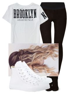 """""""Untitled #5706"""" by assexyaswesley ❤ liked on Polyvore featuring Tamara Mellon, Aéropostale and Converse"""