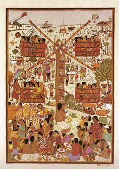 Since we're talking about Kantha work , I thought I'll show you a few pictures of Nakshi Kantha (embroidered quilts) Traditionally, these ar. Indian Folk Art, Indian Artist, Happy Bengali New Year, Bengali Culture, Indian Illustration, Embroidered Quilts, Indian Paintings, Textile Art, Event Design