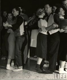 Dancing at the Sock Hop, 1950s.