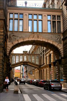 Prague Skybridges - Czech Republic (im sad I didnt see any while I was there! Next time I guess) Places To Travel, Places To Visit, The Places Youll Go, Prague Travel, Prague Czech Republic, Monuments, Most Beautiful Cities, Central Europe, Eastern Europe
