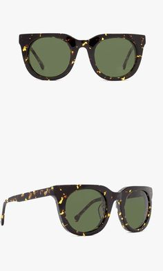 Rounded lenses, a straight brow line and rubberized texture make these shades a modern essential.