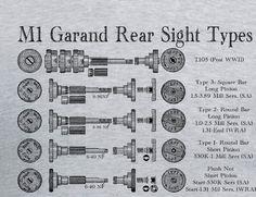 M1 Garand Rear Sight Types WWII T Shirt Winchester Springfield Armory CMP H&R #Handmade #GraphicTee #garand #M1Garand #Winchester #H&R #SpringfieldArmory #WWII #Guntshirts #redheaded