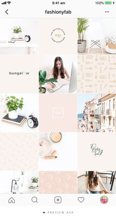 Website inspiration, color palettes and images for building a beautiful author brand. Instagram Feed Layout, Instagram Grid, Pink Instagram, Instagram Design, Instagram Blog, Instagram Posts, Feed Vsco, Designers Gráficos, Animated Gifs