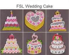 free standing machine embroidery designs earrings | FSL Wedding Cake Free Standing Lace Machine Embroidery Designs Instant ...