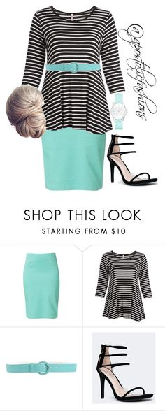 """""""Apostolic Fashions #1704"""" by apostolicfashions ❤ liked on Polyvore featuring Raxevsky, Cool Melon, Orciani, Anne Michelle, Liz Claiborne and plus size clothing"""