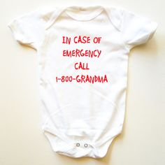 So cute!  1-800-Grandma Onesie now featured on Fab. Now $18.50 for a limited time.