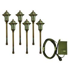 Portfolio 6-Light Copper Low-Voltage Path Light Landscape Light Kit  sc 1 st  Pinterest & low voltage led outdoor lighting kits - best paint for interior ... azcodes.com