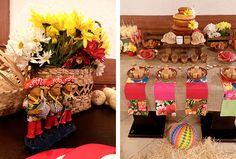 Festa Junina Infantil mesa de doces