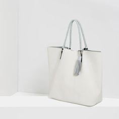 Image 4 of TASSELLED TOTE from Zara