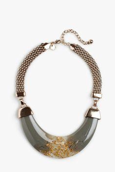Golden Resin Necklace - Necklaces | Adolfo Dominguez shop online