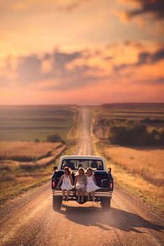 Little girls in daddy's truck... A perfect photo op!