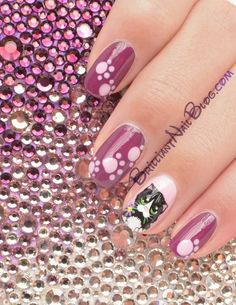 Cute kitty nail art