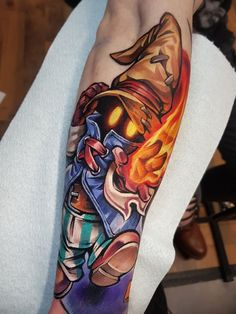 Gamer Tattoos, Girly Tattoos, Anime Tattoos, Hand Tattoos, Small Tattoos, Sleeve Tattoos, Tatoos, Final Fantasy Tattoo, Arte Final Fantasy