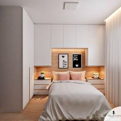 gorgeous bedroom cabinet ideas for home inspiration 8 - Schlafzimmer Wardrobe Design Bedroom, Bedroom Closet Design, Home Bedroom, Modern Bedroom, Bedroom Ideas, Warm Bedroom, Ikea Bedroom, Bedroom Inspiration, Girls Bedroom