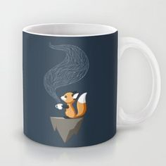 Fox Tea Mug by Freeminds - $15.00 So cute, I love it <3
