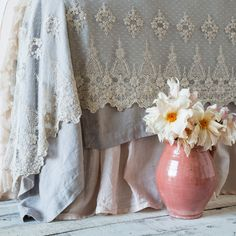 Bella Notte Linens Olivia Bed Throw, Lace Bedding and Throw Linen Bedroom, Bedroom Decor, Bedroom Ideas, French Country Bedding, Pastel Bedroom, Lace Bedding, Bed Scarf, Velvet Bed, Living Styles