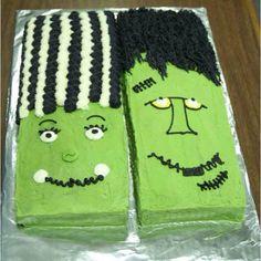 Frankenstein cakes #Halloween