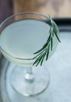 The classic Gimlet cocktail recipe revised with fragrant, herbal rosemary. A lime and gin-based cocktail, perfect for holiday entertaining...or any time of the year!