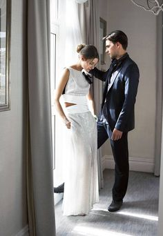 Olivia Palermo and Johannes Huebl pose for This Is London. March 2012