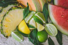 Fresh fruit (watermelon, pineapple, lime, lemon, melon) granitas, via healthy vegetarian food blog, Three Seedlings threeseedlings.com Fresh Fruit, Whole Food Recipes, Watermelon, Vegetarian Recipes, Pineapple, Granitas, Lime, Peach, Healthy