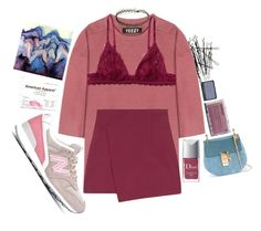 """yeeezy"" by polysmolenskaya ❤ liked on Polyvore featuring H&M, adidas Originals, New Balance, Christian Dior, Monki, Chloé, Korres and KEEP ME"