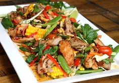 Thai infused grilled chicken salad recipe from www.chelseawinter.co.nz