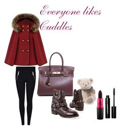 """Everyone likes cuddles"" by glamourchic2 on Polyvore featuring MICHAEL Michael Kors, Hermès, Bobbi Brown Cosmetics, women's clothing, women, female, woman, misses and juniors"