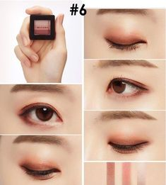 Trendy Makeup Goals Tutorials Make Up Ideas Korean Makeup Look, Korean Makeup Tips, Asian Eye Makeup, Korean Makeup Tutorial Natural, Asian Eyeshadow, Asian Makeup Looks, Dark Eyeshadow, Makeup Eyeshadow, Face Makeup