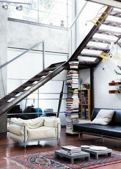 Wohnzimmerideen Industrieller Stil Teppich Bcher