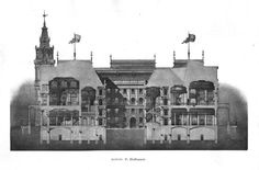 Section of a projected new city hall, Vienna
