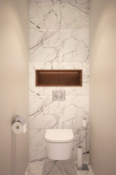 Designers Alexei Ivanov and Pavel Gerasimov of studio GEOMETRIUM completed a modern apartment design in Saint Petersburg, Russia. A contemporary crib with plenty of natural materials was the main requ Small Toilet Room, Guest Toilet, Downstairs Toilet, Bathroom Toilets, Laundry In Bathroom, Small Bathroom, Bathroom Modern, White Bathroom, Bad Inspiration