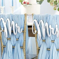 Mr and Mrs Chair Sign Wedding Chair Sign Bride and Groom Sign Centerpiece Victorian Wedding Decor Mr and Mrs Sign for Sweetheart Table My Wedding Favors, Beach Wedding Decorations, Bridal Shower Favors, Wedding Ideas, Wedding Stuff, Wedding Fun, Bridal Showers, Wedding Bells, Summer Wedding
