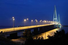 You don't exactly hang-out here, but it's a great place to capture some good photographs --  the Sungai Johor Bridge on the Senai-Desaru Expressway in Malaysia.