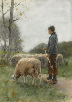 Archival Canvas & Fine Art Prints, Quality Posters, & Framed Reproductions of A Shepherd and His Flock by Anton Mauve. Choose the size & framing for your style.