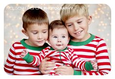 Brothers Christmas Photo with lights-I want this!