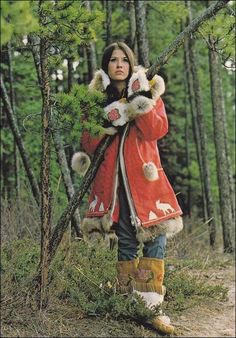 Phyllis Frost Models Indian Parka , Y. Coloured People, Ethnic Dress, Alaska Travel, Auction Items, Work Looks, Aboriginal Art, Sweet Memories, First Nations, World Cultures