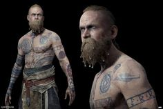 Browse the Second part of our God Of War Art Gallery made for God Of War featuring art by Arda Koyuncu, Raf Grassetti and Yefim Kligerman. Viking Character, Game Character, Character Design, God Of War, War Tattoo, Norse Tattoo, God Tattoos, 3d Fantasy, New Gods