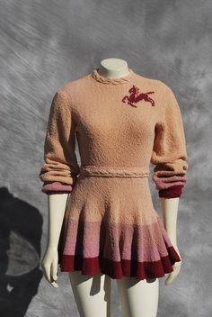 1940s crochet skate dress