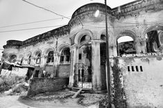Sheesh Mahal, Hussainabad. This is all that remains of the historic Sheesh Mahal in Lucknow today. Built by Nawab Asaf-ud-Daula, the palace, as the name symbolises, was decorated with mirrors. The Nawab had developed the area for living with his family and wazirs.