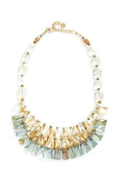 Three Tiers to the Night Necklace, #ModCloth