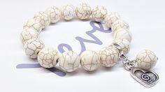 Bransoletka+Howlit+piękny+kolor+12+mm+w+Yeve+jewelry+na+DaWanda.com