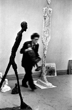 Alberto Giacometti at his studio.