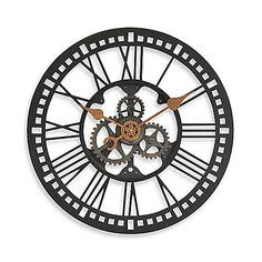 Bring industrial appeal to your home with the FirsTime Roman Gear wall clock. The open Roman numerals effortlessly coordinate with decor, while the oil rubbed bronze finish and gear hands make this a timeless addition to rustic modern styling in any room.