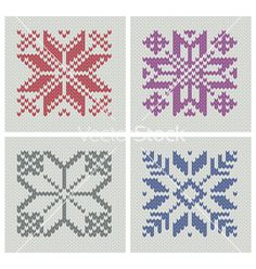 Set of norwegian traditional knitting designs vector 677642 - by keitikei on VectorStock®