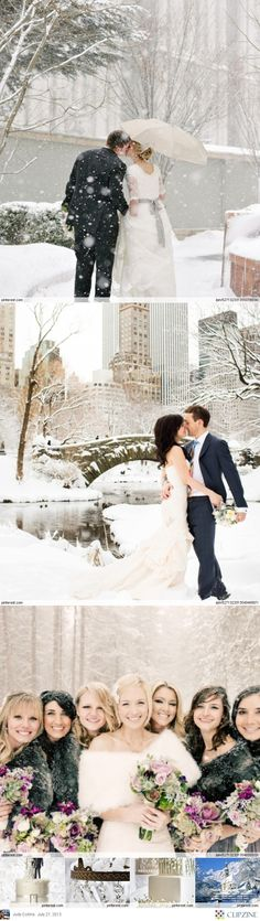 Winter Weddings #White #Wedding … Wedding #ideas for brides, grooms, parents & planners https://itunes.apple.com/us/app/the-gold-wedding-planner/id498112599?ls=1=8 … plus how to organise an entire wedding, within ANY budget ♥ The Gold Wedding Planner iPhone #App ♥ For more inspiration http://pinterest.com/groomsandbrides/boards/  #winter #snow