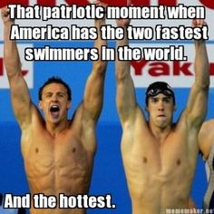 Ryan Lochte & Michael Phelps God Bless America Just keep swimming Swimming Funny, Swimming Memes, I Love Swimming, Swimming Sport, Michael Phelps, Ryan Michael, Swimmer Problems, Girl Problems, Olympic Swimmers