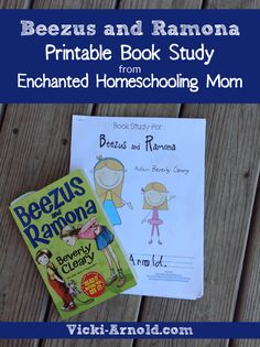 Homeschooling & Homemaking with a Happy Heart! Homeschool Books, Homeschooling, Ramona Books, Beverly Cleary, Book Study, Readers Workshop, Business For Kids, Book Activities, Fun Learning