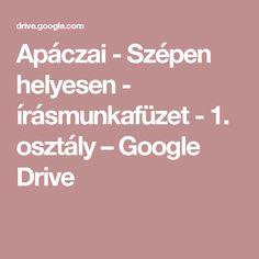 Apáczai - Szépen helyesen - írásmunkafüzet - 1. osztály– Google Drive
