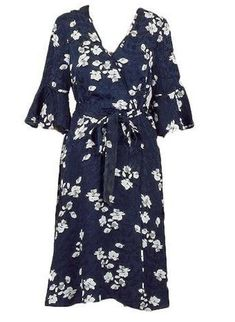 Ex M/&Co 8-16 Wrap Front Palm Floral Print Jumpsuit Green Black /& White Occasion