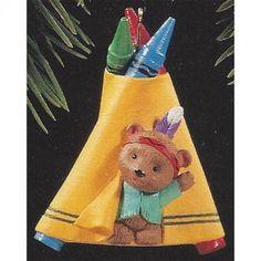 Crayola Crayon Series 7 Bright'n'Sunny Tepee Hallmark Christmas Ornament 1995 || Available for sale via the pin's link.